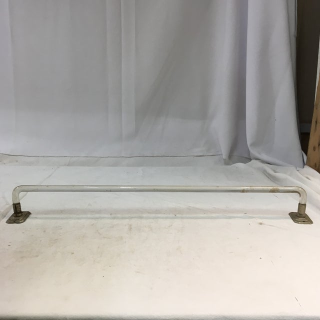 Vintage Lucite Towel Bar With Chrome-Plated Hardware For Sale - Image 10 of 13