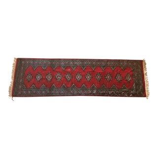 Vintage Wool Red Runner Rug - 2′5″ × 7′10″ For Sale