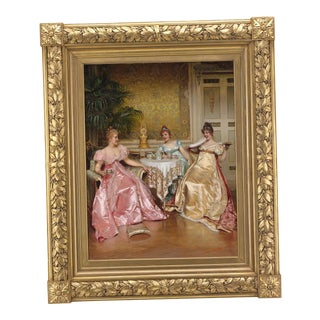 Afternoon Tea For Three By Charles-Joseph-Frédéric Soulacroix
