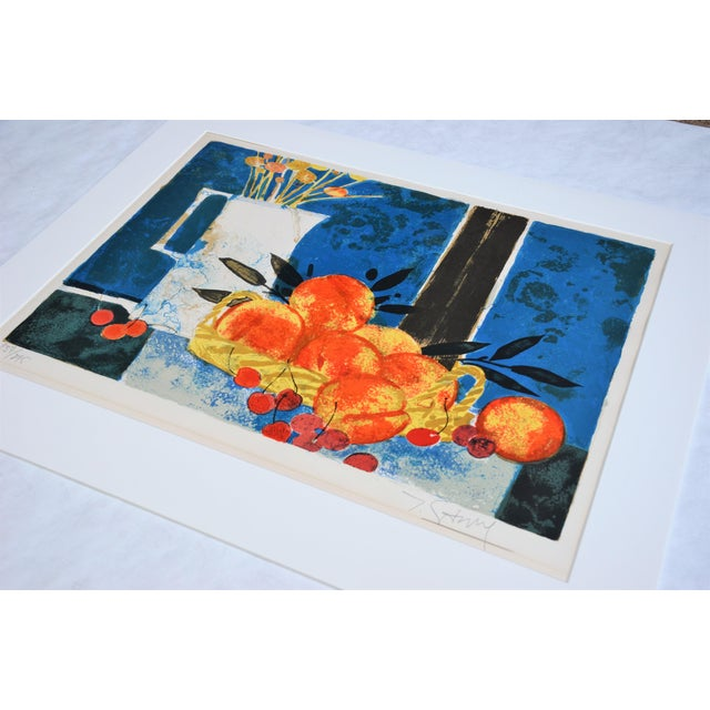 Modern Hand Lithographed Still Life Print by French Artist Yves Ganne For Sale - Image 3 of 10