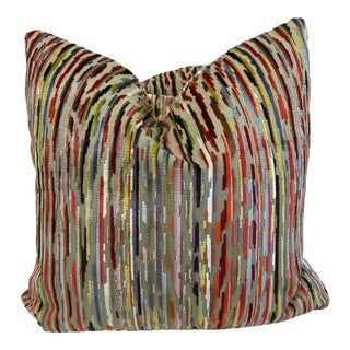 "Romo ""Benito Multi"" 22"" Pillows - a Pair For Sale"