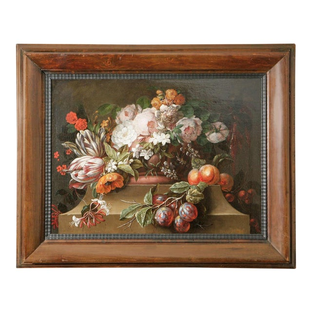 18th C. Dutch Still Life Oil Painting For Sale