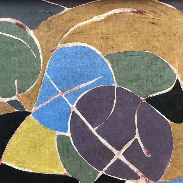 Abstract Mid Century Modern Original Abstract Painting For Sale - Image 3 of 6