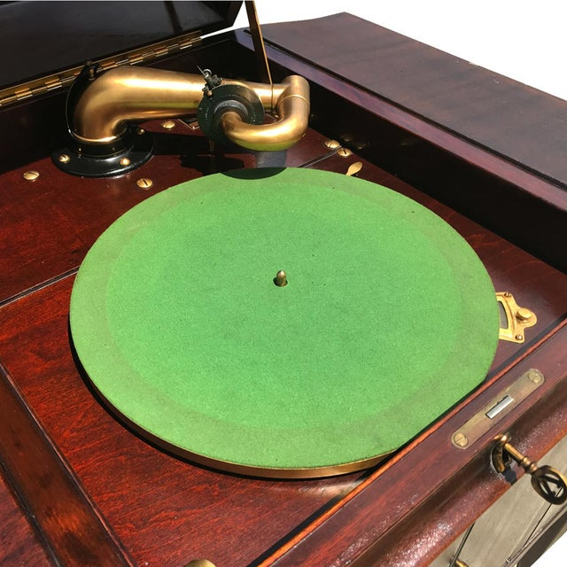 Antique Working Victor Victrola Humpback Console Mahogany Phonograph Record Player - Image 5 of 10
