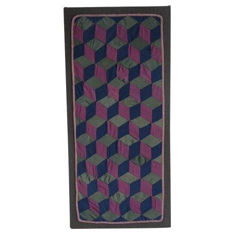 1920s Amish Rare Cradle Quilt/Tumbling Blocks For Sale