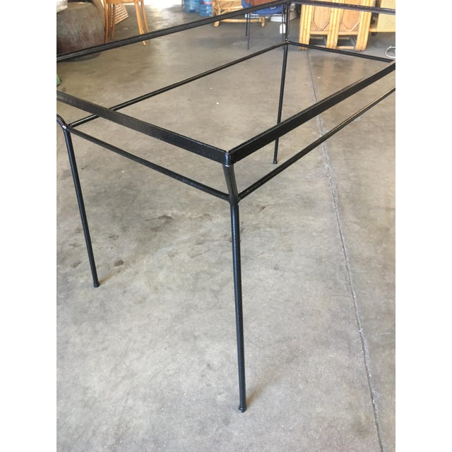 1940s Art Deco Modernist Iron and Glass Patio/Outdoor Table For Sale - Image 5 of 6