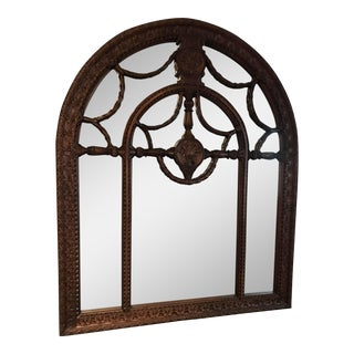 Arched Hand Carved Wooden Mirror