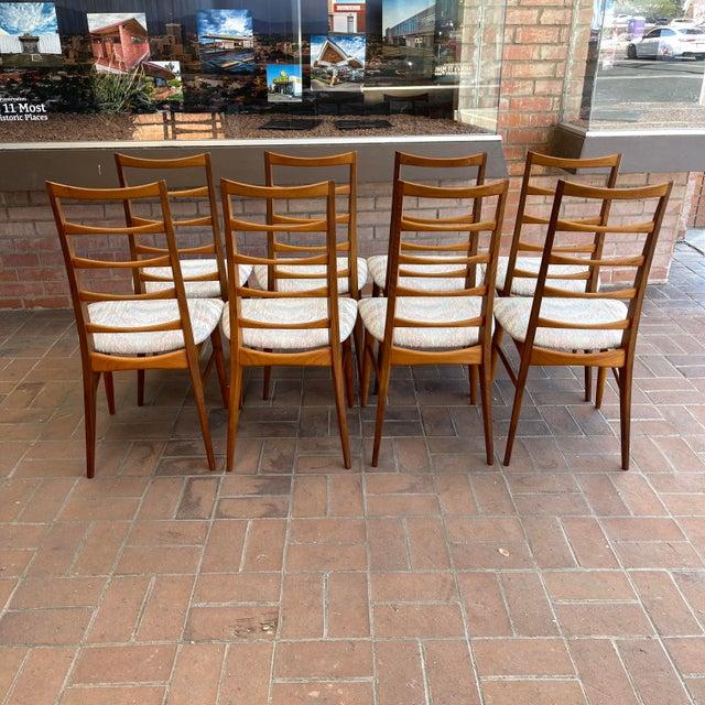 Koefoeds Hornslet Danish Modern Koefoeds Hornslet Teak Ladder-Back Dining Chairs - Set of 8 For Sale - Image 4 of 13
