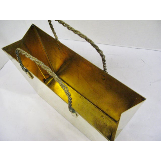Hollywood Regency Circa 1970 Brass Shopping Bag - Image 5 of 7