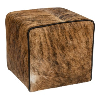 Medium Brindle Brown & Black Waterfall Ottoman For Sale