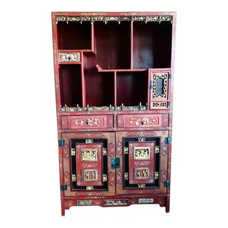1960s Asian Antique Large Cabinet For Sale