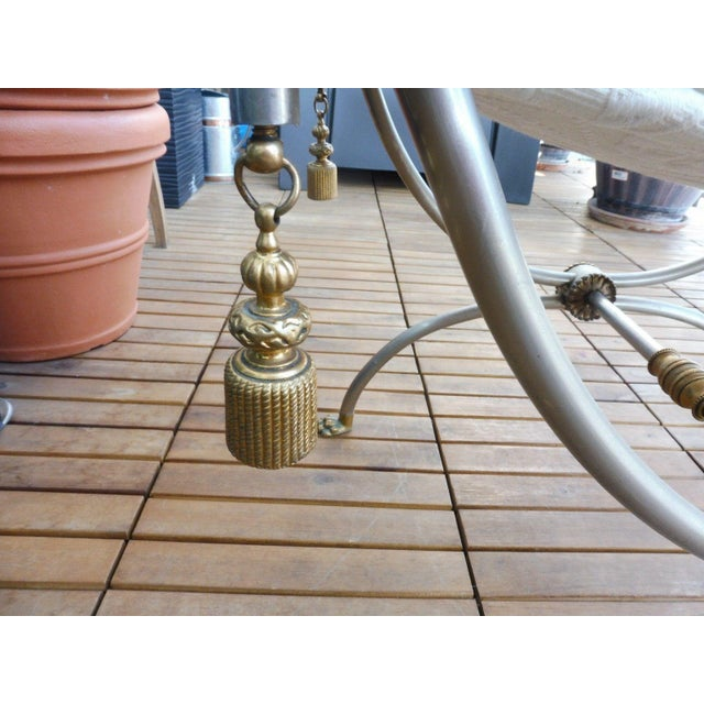 Gold 1970s Neoclassical Bench With Rope Tassels For Sale - Image 8 of 10