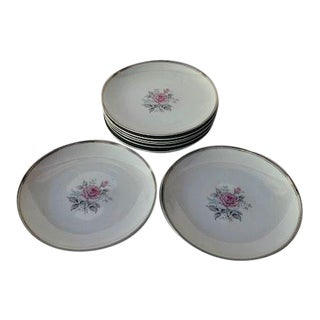 "Vintage Empress China Japan ""Rosetta"" Pattern Set of 8 Salad Plates For Sale"