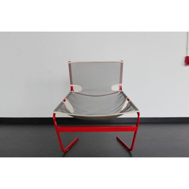 Highly rare edition of the Pierre Paulin 'F-444' lounge chair. Rare and quite unique example of the F444 lounge chair by...
