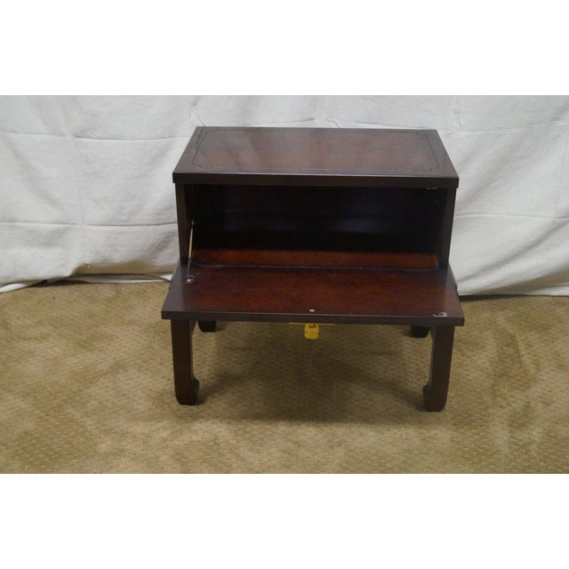 Asian Style Chest on Frame End Table - Image 5 of 10