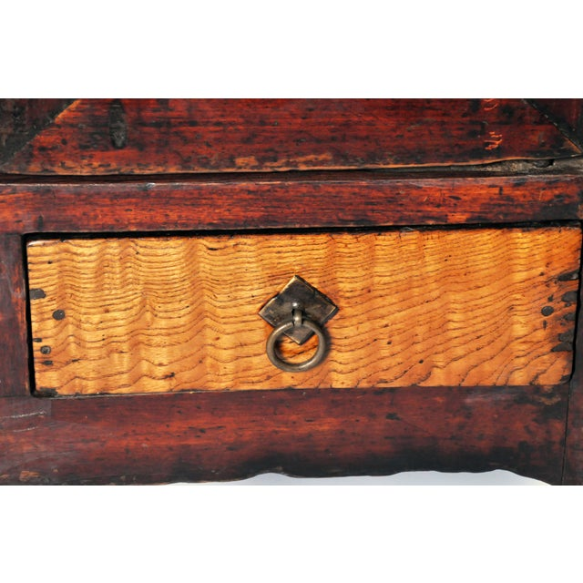 Wood Chinese Red Lacquer Cabinet For Sale - Image 7 of 11