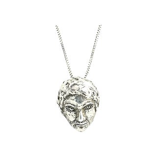 Sterling Face Necklace For Sale
