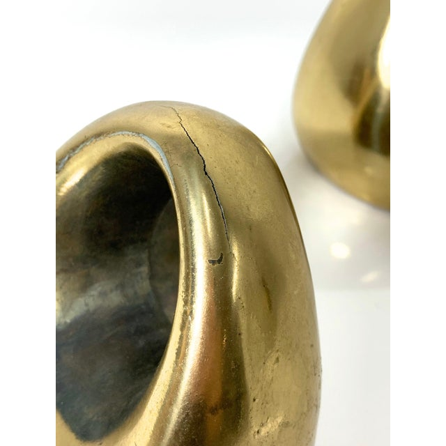 1960's Ben Seibel Brass Orb Bookends - a Pair For Sale - Image 9 of 10