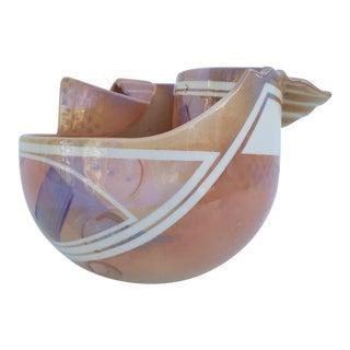1980s Vintage Hubert Sculptural Ceramic Glaze Vase