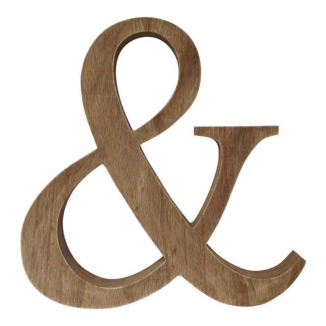 e6f0332c3a2a Large Wood Ampersand Symbol