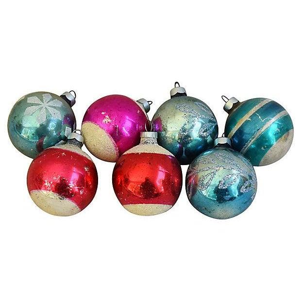1960s Christmas Tree Ornaments w/Box - Set of 12 - Image 2 of 6