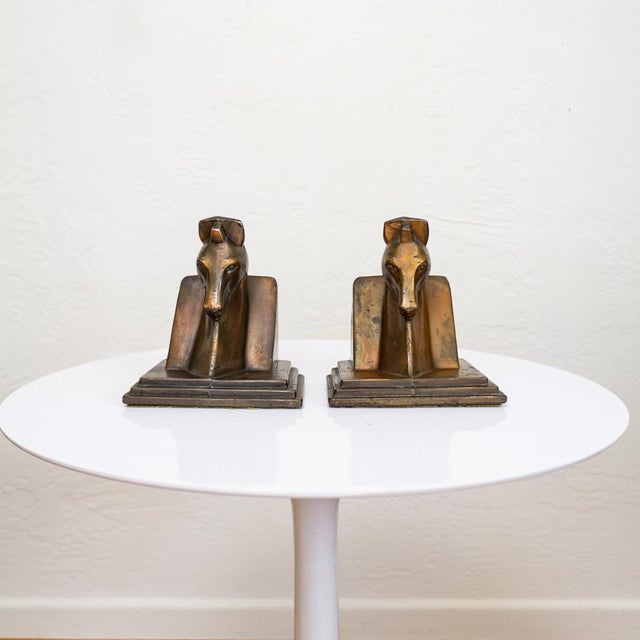 Trojan Horse Bookends | Art Deco Copper Plated For Sale - Image 9 of 10