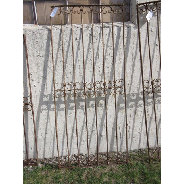 Antique Victorian Iron Gate or Garden Fence For Sale In Philadelphia - Image 6 of 7