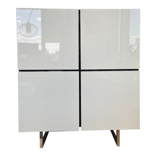 Calligaris White Lacquer Bar/Sideboard For Sale