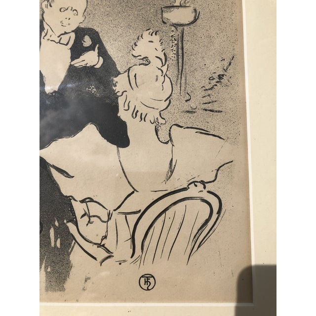 """Late 20th Century Framed Print of """"Sagesse"""" (Wisdom) by Henri De Toulouse-Lautrec For Sale - Image 5 of 13"""