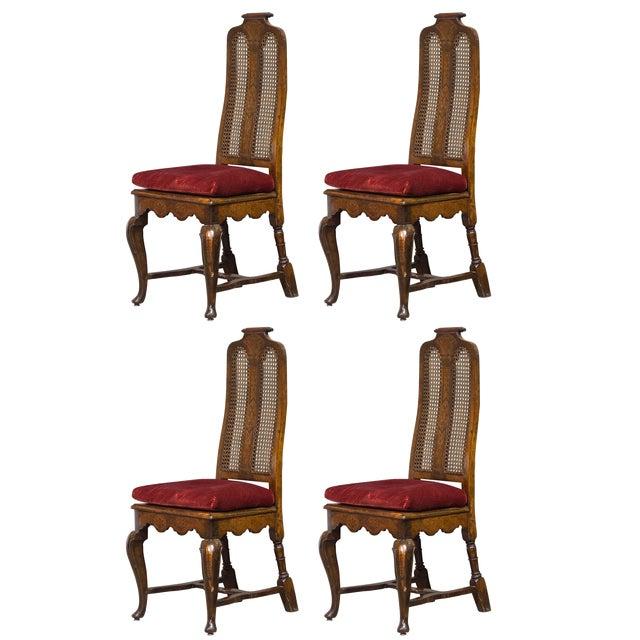 Antique Sarreid LTD Walnut Dining Chairs - Set of 4 - Image 1 of 3