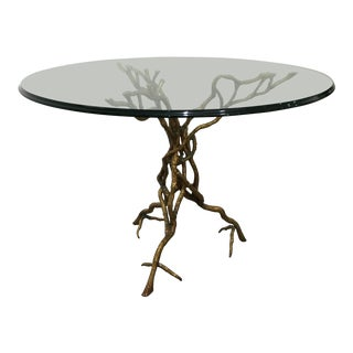 John Richard Glass Twisted Branches Dining Table For Sale