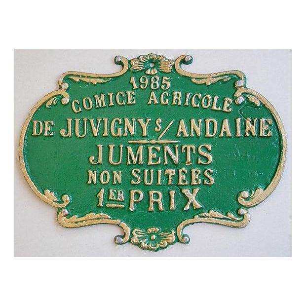 Vintage 1985 French Agriculture Trophy Award Prize - Image 2 of 3