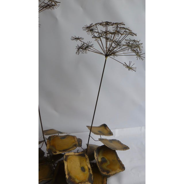Signed Friedle Metal Wildflower Sculpture - Image 11 of 11