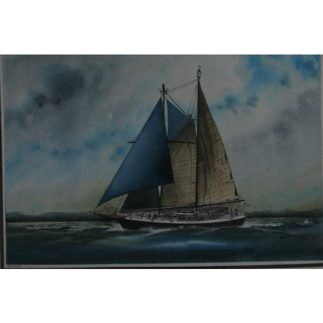 """This is an original water color on mat board (29 3/4""""w x 22""""h) image size (22 3/4""""w x 15""""h). The Artist is Roger Herman..."""