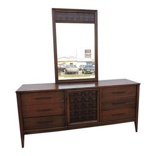 Mid Century Modern Dresser With Mirror For Sale