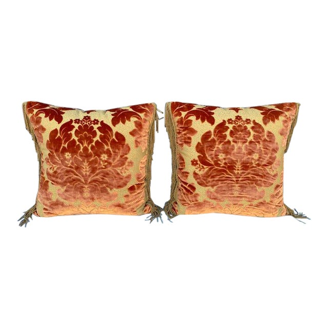 Luigi Bevilacqua Silk Velvet Pillows - A Pair For Sale