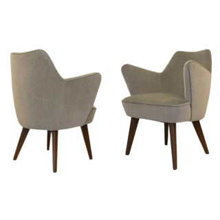 Pair of Gio Ponti for Cassina Armchairs with Expertise from the Archives