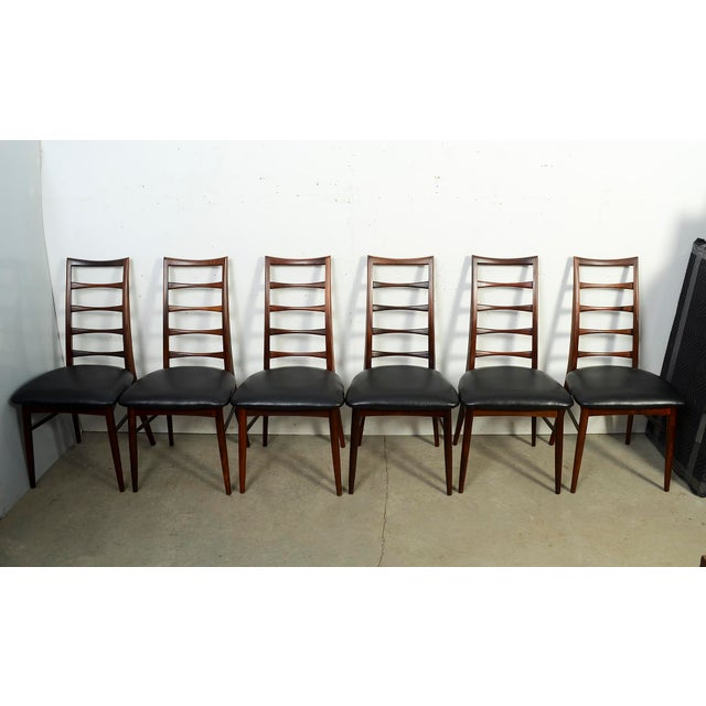 "Black Niels Koefoed for Koefoed Hornslet Danish Modern""Lis"" Dining Chairs- Set of 6 For Sale - Image 8 of 8"