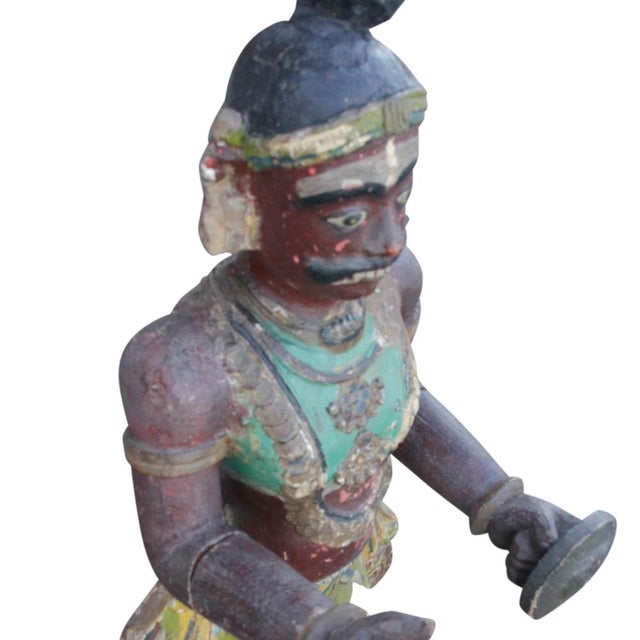 Antique Tribal Warrior Statue For Sale In Los Angeles - Image 6 of 8