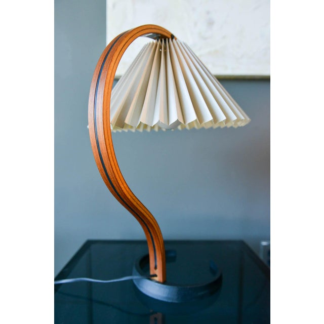 Caprani Light AS Bentwood Table Lamp by Caprani Light of Denmark, Circa 1971 For Sale - Image 4 of 12