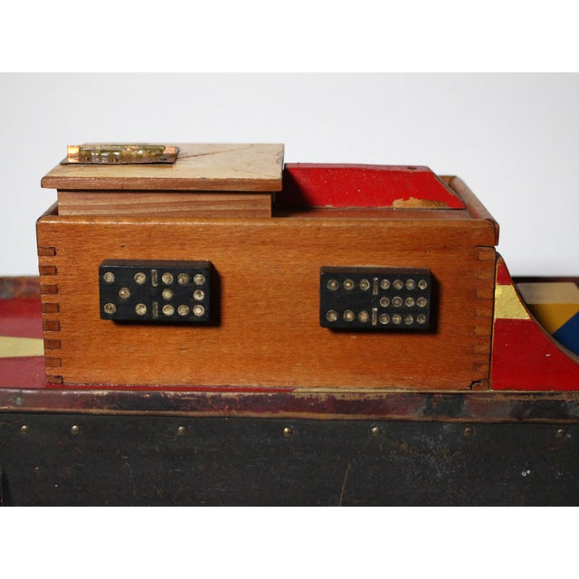 """Large Handmade Tramp Art Hawaiian """"Toy Ship"""" Box For Sale In Los Angeles - Image 6 of 9"""