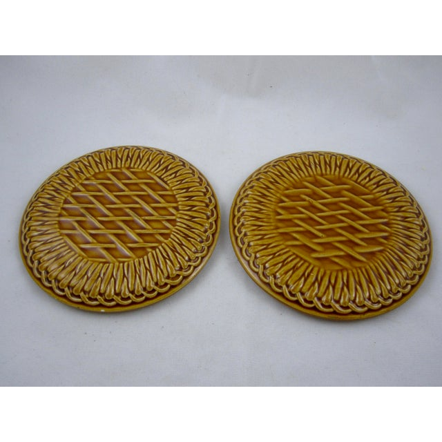 French Faïence Wine Bottle Coasters- A Pair - Image 7 of 9
