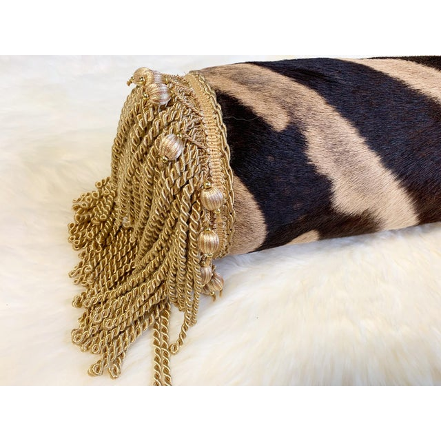 """Modern One of a Kind Zebra Pillow, 24.5"""" For Sale - Image 3 of 6"""