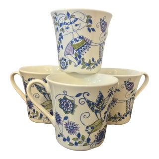 Vintage Turi Design Lotte Coffee Mugs - Set of 4 For Sale