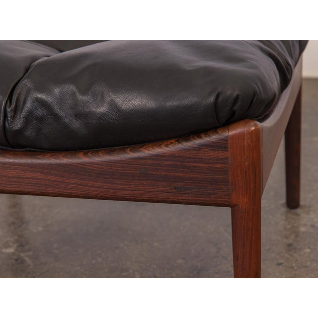 Kristian Vedel Modus Rosewood Ottoman For Sale In New York - Image 6 of 8