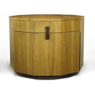 Exceptional Harvey Probber Decagonal Bleached Rosewood Bar Cabinet Preview