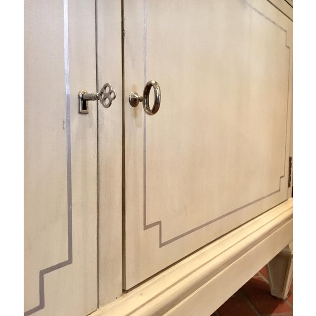 White Transitional Lilian for Hickory White Wood Foster Server For Sale - Image 8 of 11