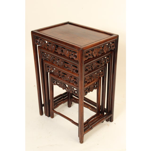 1930s 1930s Chinese Nesting Tables - Set of 3 For Sale - Image 5 of 13