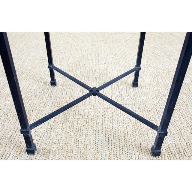 Dark Gray Brown Jordan Venetian Aluminum Cube Drinks Tables For Sale - Image 8 of 10