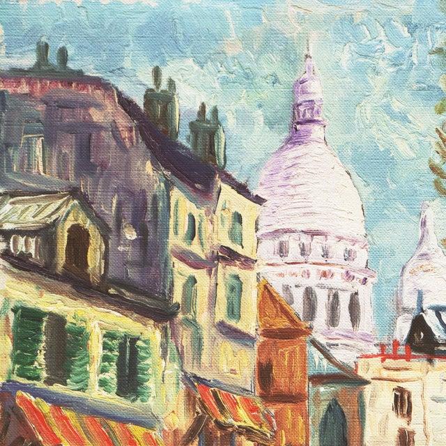 1950s 'Place Du Tertre, Montmartre, Paris' by Rammy, Mid-Century Post-Impressionist Oil For Sale - Image 5 of 9